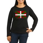 Basque Flag Women's Long Sleeve Dark T-Shirt