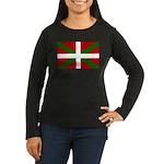 Basque Flag Women's Long Sleeve Dark T-Shirt