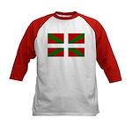 Basque Flag Kids Baseball Jersey