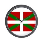 Basque Flag Wall Clock