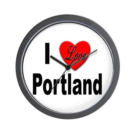I Love Portland Wall Clock