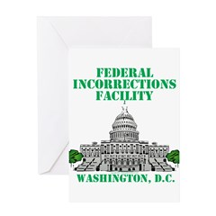Incorrections Facility Greeting Card