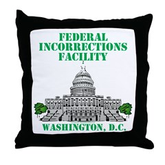 Incorrections Facility Throw Pillow