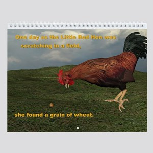 The Little Red Hen Story Wall Calendar