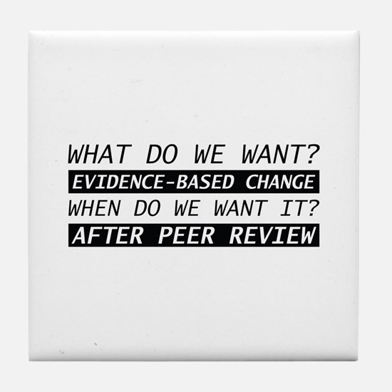 After Peer Review Tile Coaster