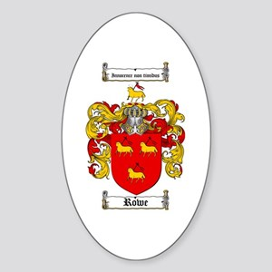 Rowe Coat of Arms Oval Sticker