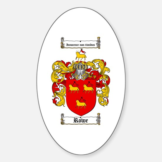 Rowe Coat of Arms Oval Decal