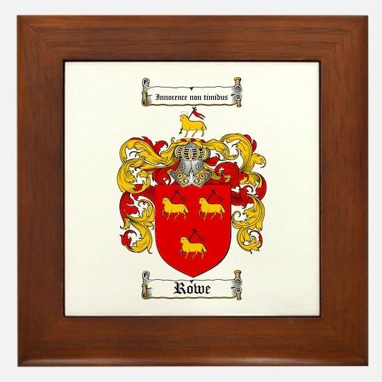 Rowe Coat of Arms Framed Tile