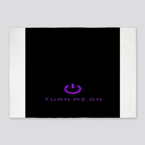 Turn Me On Purple 5'x7'Area Rug