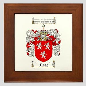 Ross Coat of Arms Framed Tile