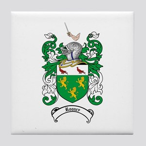 Rooney Coat of Arms Tile Coaster
