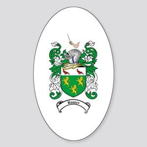 Rooney Coat of Arms Oval Sticker
