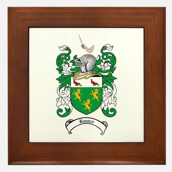 Rooney Coat of Arms Framed Tile