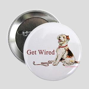 """Wire Fox Terrier Dog Walk 2.25"""" Button"""
