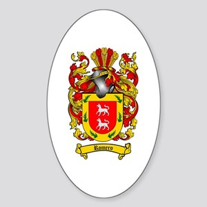 Romero Coat of Arms Oval Sticker
