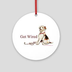 Wire Fox Terrier Dog Walk Ornament (Round)