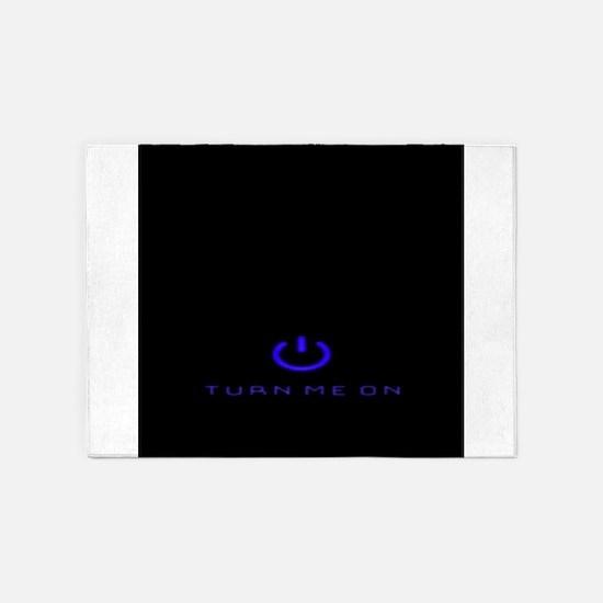 Turn Me On Blue 5'x7'Area Rug