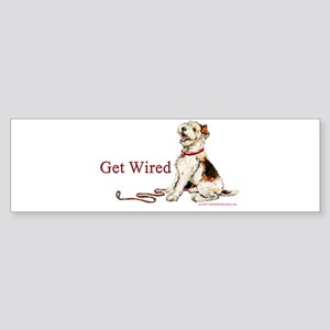 Wire Fox Terrier Dog Walk Bumper Sticker