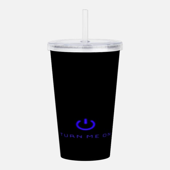 Turn Me On Blue Acrylic Double-wall Tumbler