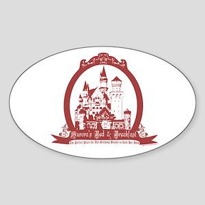 Aurora's Bed & Breakfast Oval Sticker