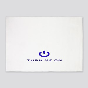 Turn Me On Blue  5'x7'Area Rug