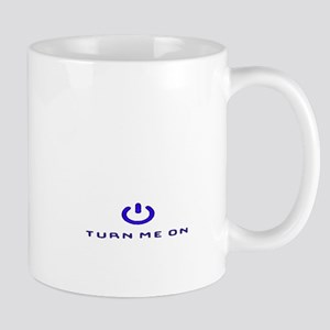 Turn Me On Blue  Mugs
