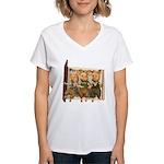 The Three Little Pigs Women's V-Neck T-Shirt