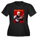 Death's Violinist Women's Plus Size V-Neck Dark T-