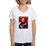 Death's Violinist Women's V-Neck T-Shirt