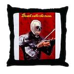 Death's Violinist Throw Pillow