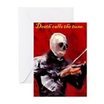 Death's Violinist Greeting Cards (Pk of 20)