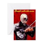 Death's Violinist Greeting Card