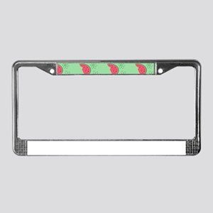 Watermelon Flowers License Plate Frame