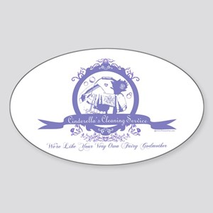 Cinderella's Cleaning Service Oval Sticker