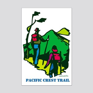 """Pacific Crest Trail Hikers"" Mini Poster Print"