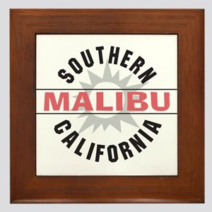 Malibu California Framed Tile