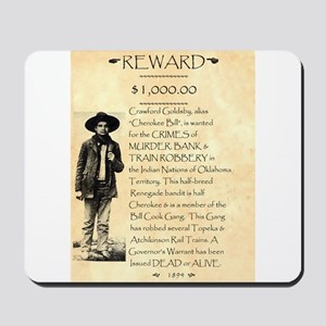Wanted Cherokee Bill Mousepad