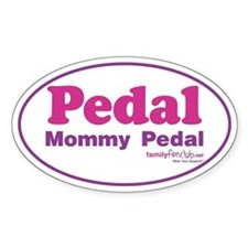 Pedal Mommy Pedal Oval Sticker