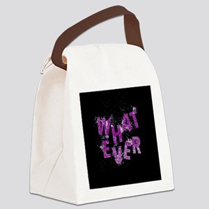 Purple Whatever Canvas Lunch Bag