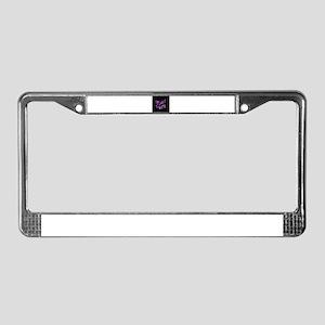 Purple Whatever License Plate Frame