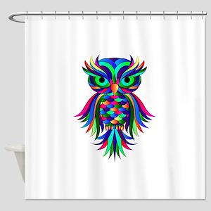 Owl Design Shower Curtain