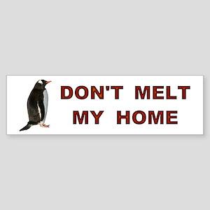 Global Warming Penguin Bumper Sticker