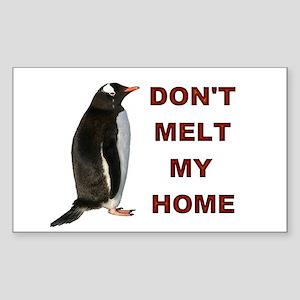 Global Warming Penguin Sticker