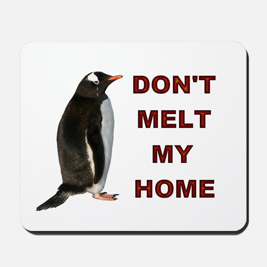 Global Warming Penguin Mousepad
