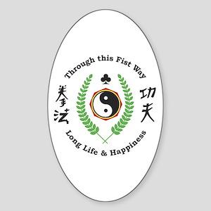 Kajukenbo Crest Oval Sticker