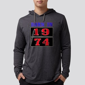 Born In 1974 Mens Hooded Shirt