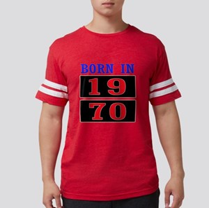 Born In 1970 Mens Football Shirt