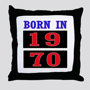 Born In 1970 Throw Pillow