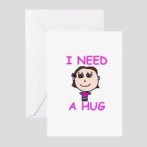 I Need a Hug Greeting Cards (Pk of 10)