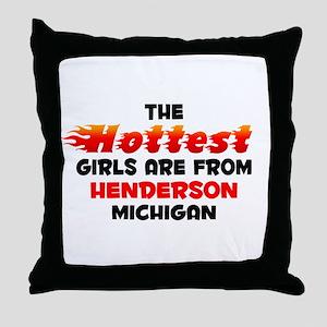 Hot Girls: Henderson, MI Throw Pillow